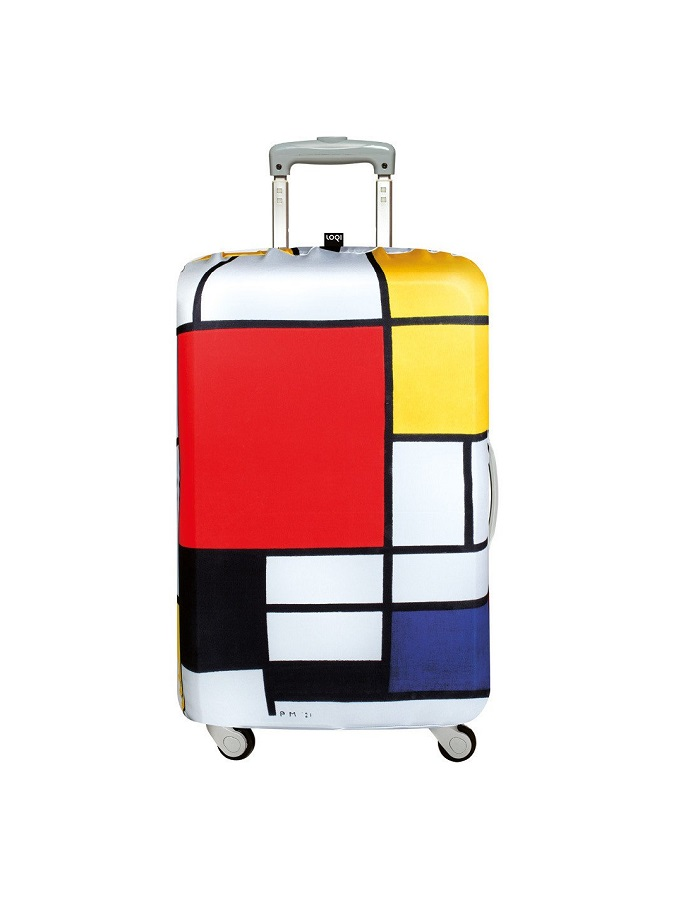 3fde38f249fc LOQI -Piet Mondrian- (Large Size) Composition Red, Yellow, Blue & Black  Luggage Cover
