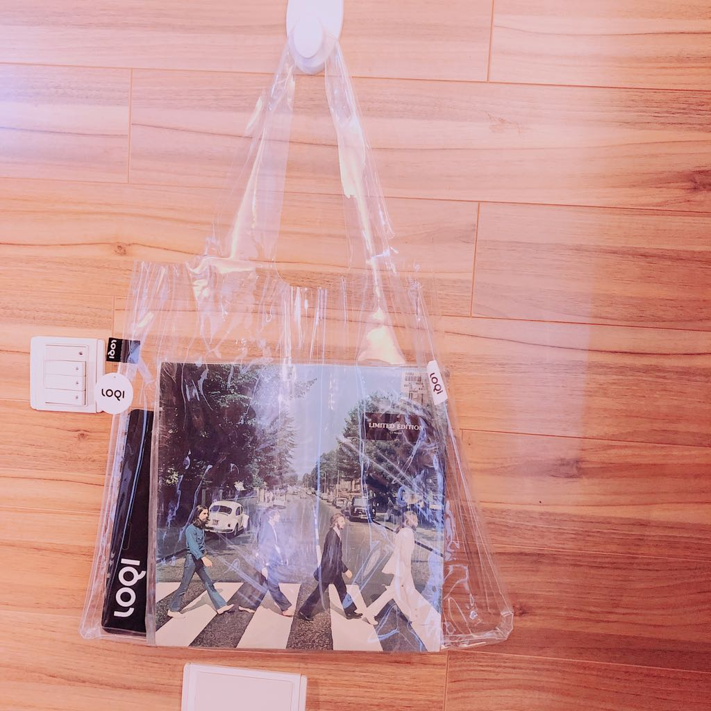 LOQI TRANSPARENT Pink Bag